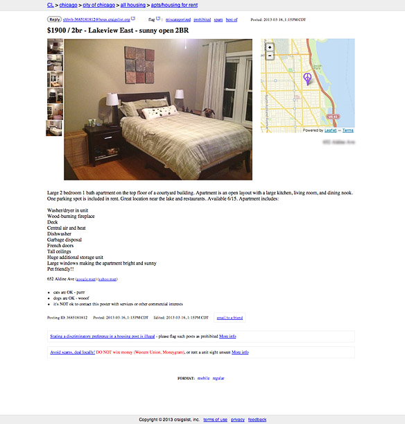 Chicago Craigslist Apartments: The DOG That Photobombed His Owner's Craigslist Ad!