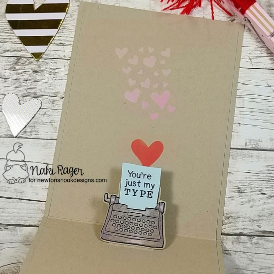 Typewriter Love  Card by Naki Rager | My Type Stamp Set and Die Set by Newton's Nook Designs #newtonsnook #handmade