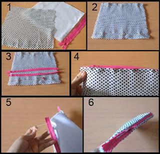 Gambar Cara Membuat Pencil Case/ Dompet Pensil Part 1