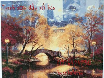 Cua hang tranh son dau so hoa tai Tay Ho