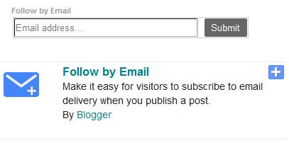 구글 블로거 사용법: 이메일 구독 가젯 (Email Subscription gadget) 꾸미는 방법