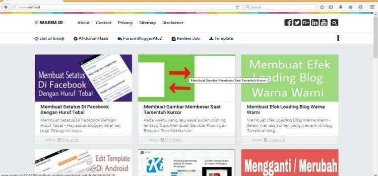 Template Blog warim id mirip template blog kompi ajaib