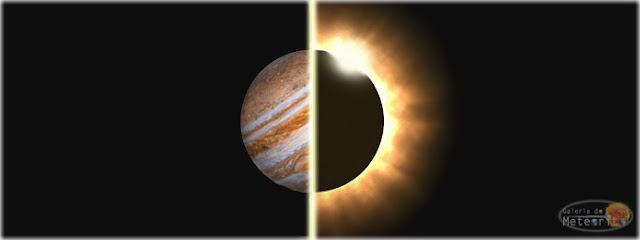 Eclipse solar total e máxima aproximação de Júpiter - março
