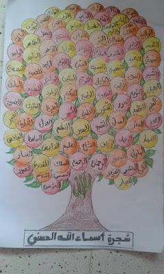 مشروع شجرة اسماء الله الحسنى السنة الثالثة ايتدائي الجيل الثاني