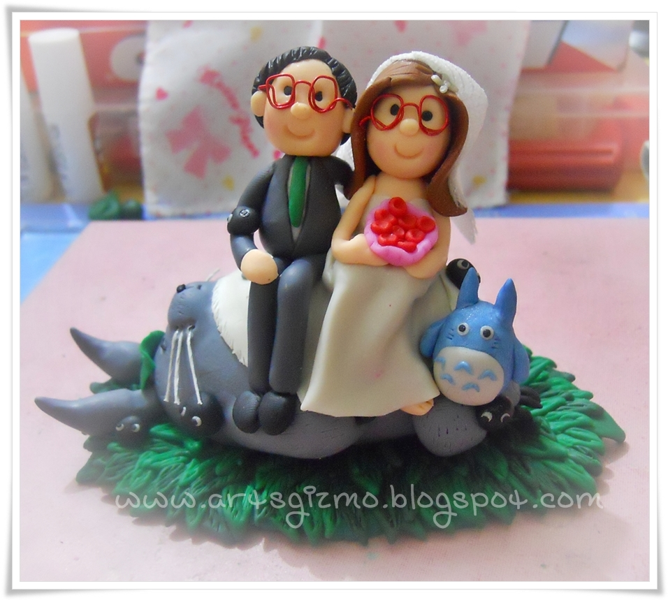 Spectacles Wedding Cake Topper