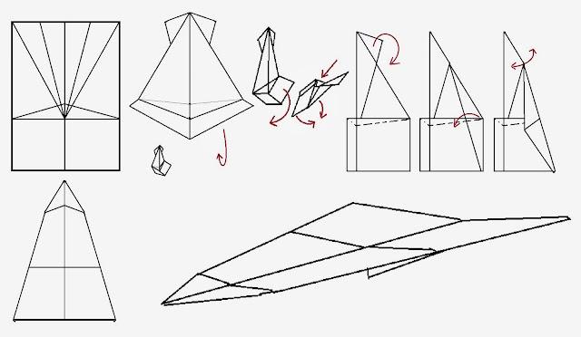 Avión de papel Wing 17