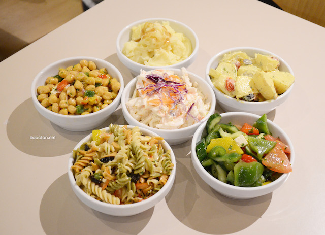 The healthy and tasty side dishes came in generous portions as well