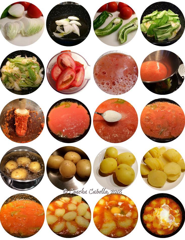 patatas-tomate-huevo-pasos