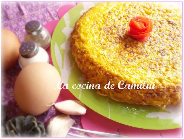Tortilla de coliflores(La cocina de Camilni)