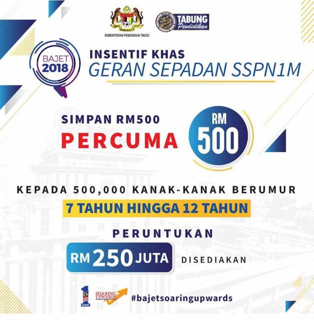 Geran Sepadan SSPN-i / SSPN-i Plus RM500