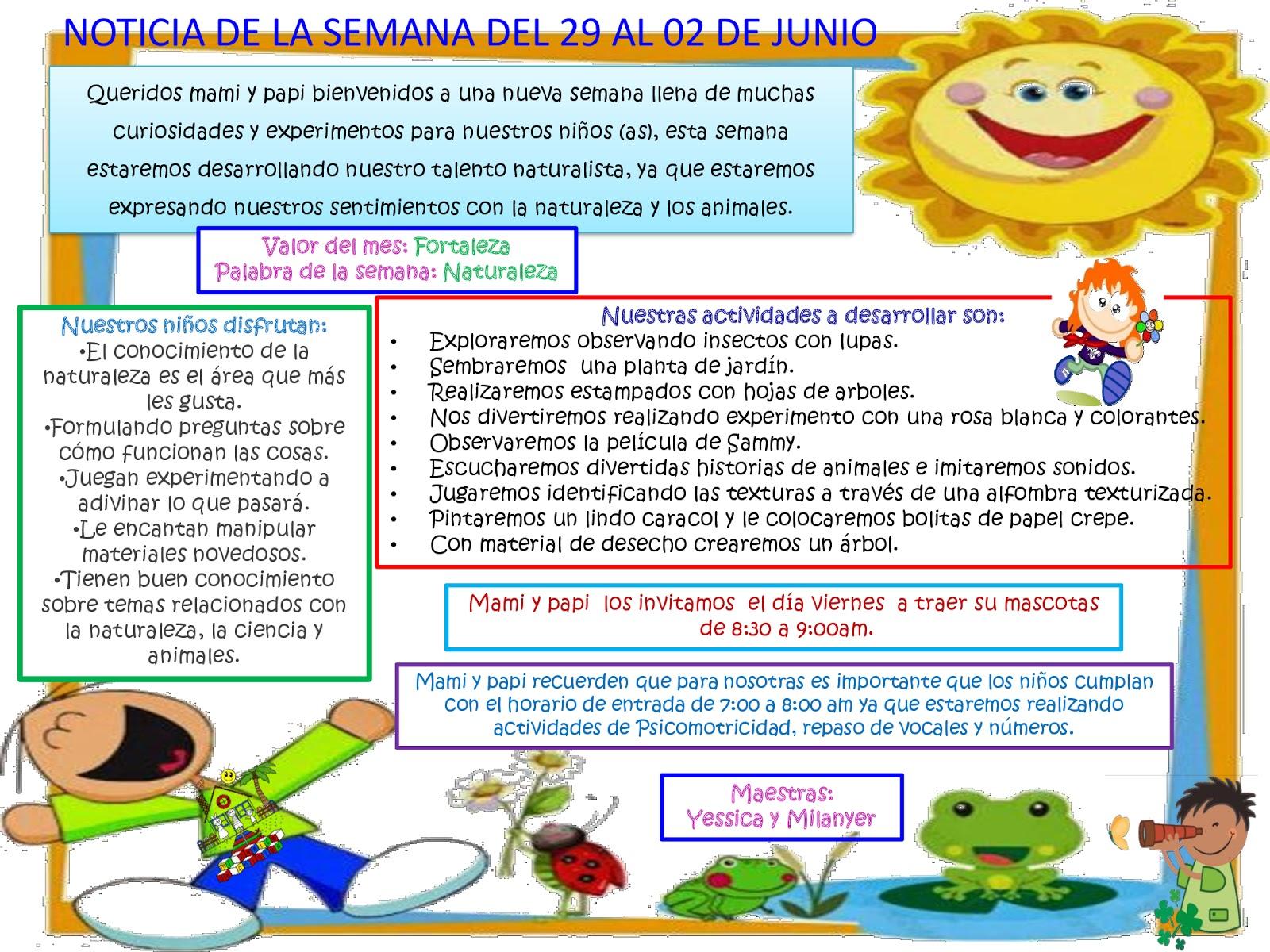 Noticia de maternal for Cancion de bienvenida al jardin