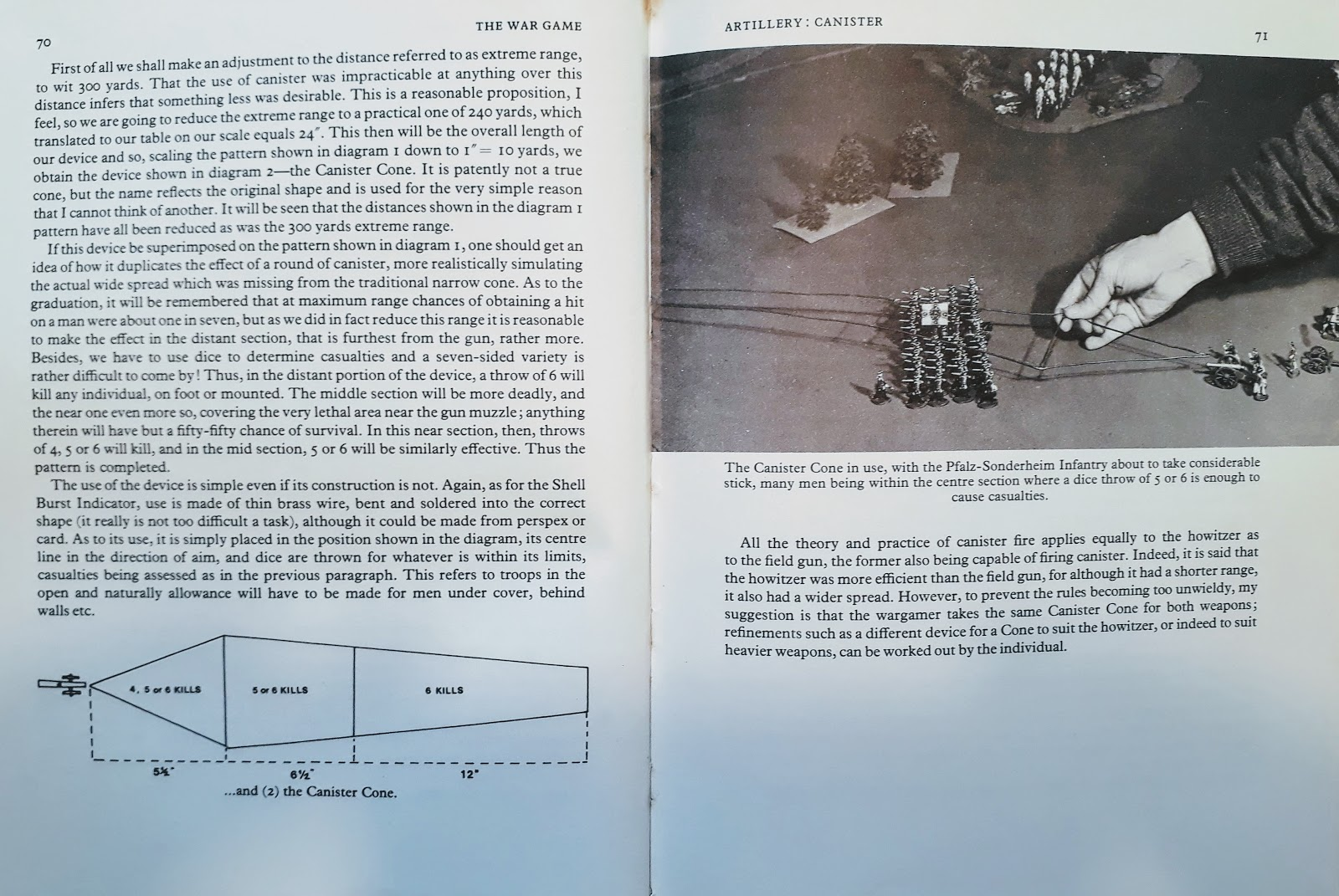 small resolution of here s another curious template from don featherstone s advanced wargames