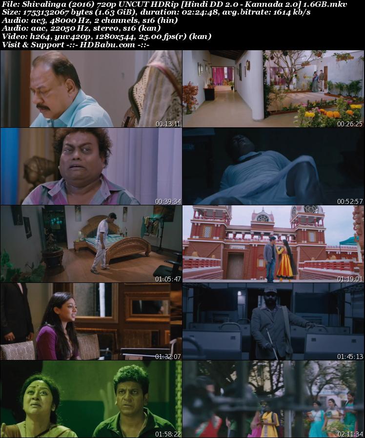 Shivalinga (2016) 720p UNCUT HDRip [Hindi DD 2.0 - Kannada 2.0] 1.6GB