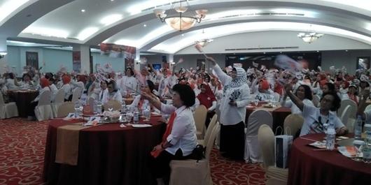Para Istri Pensiunan TNI AL Deklarasi Dukung Jokowi-Ma'ruf