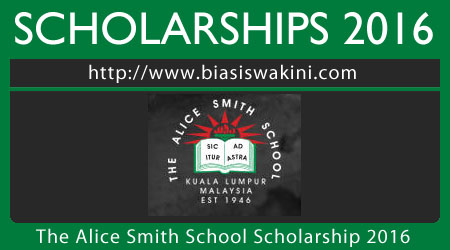 The Alice Smith School Scholarship 2016