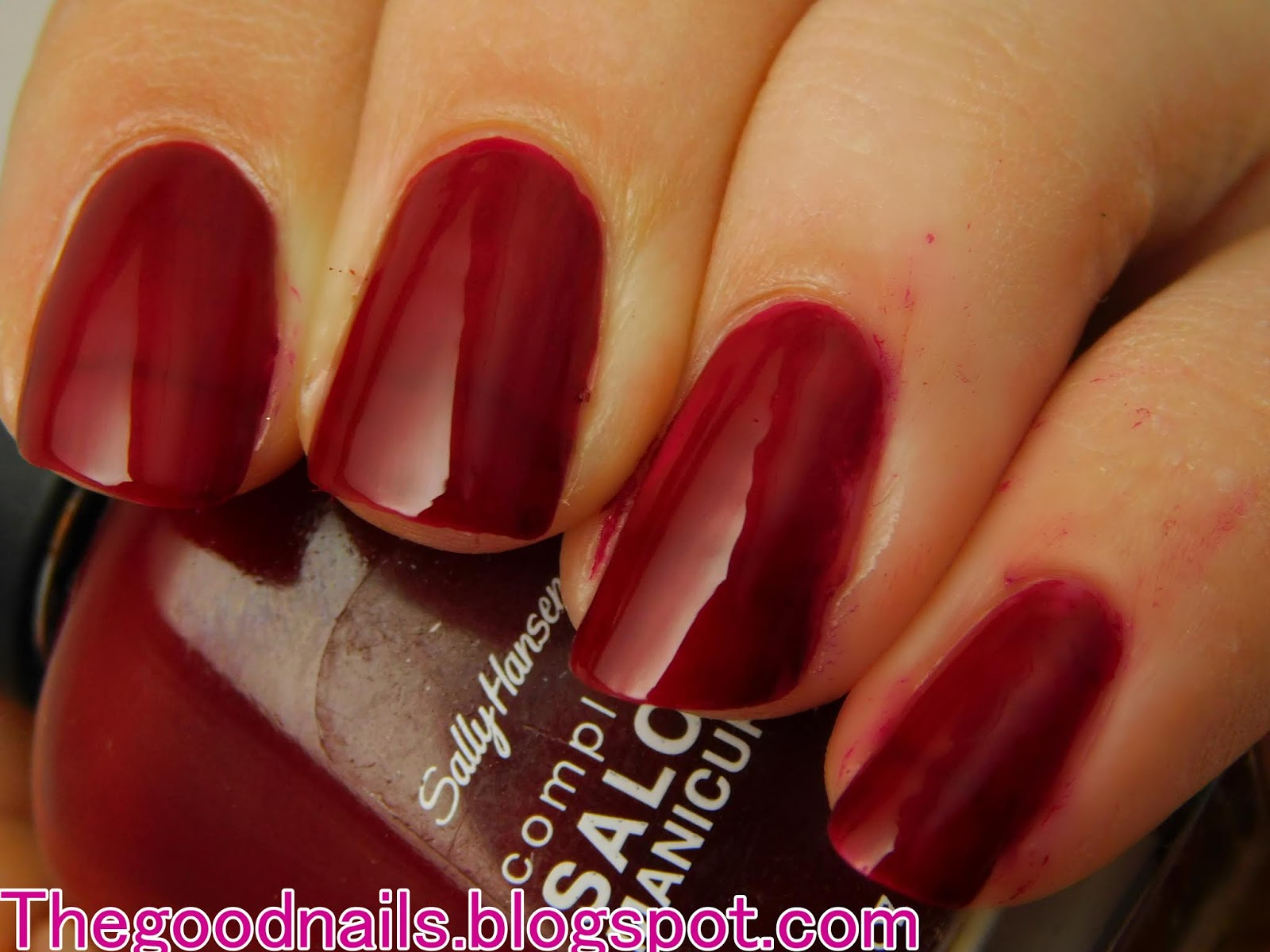 Sally Hansen 'Red Zin' Red Nail Polish Swatch and Review