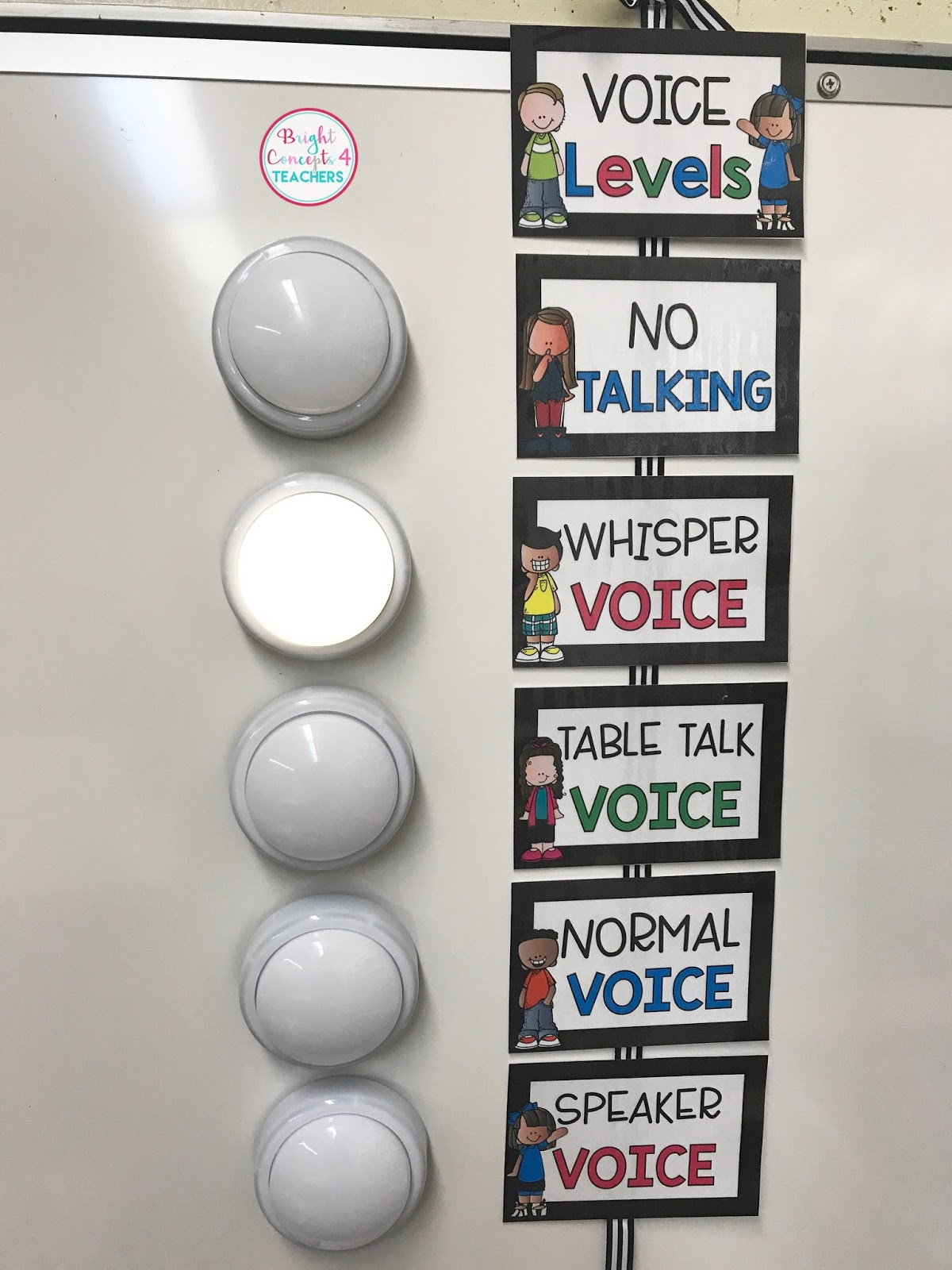 Clroom Voice Level Chart With Tap Lights