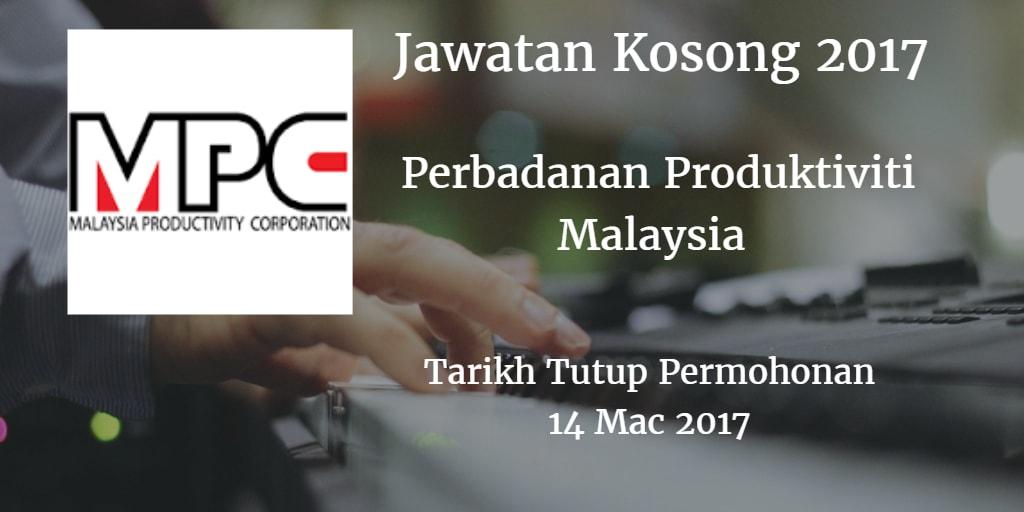 Jawatan Kosong MPC 14 Mac 2017