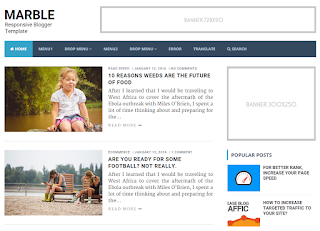 Marble Blogger Template