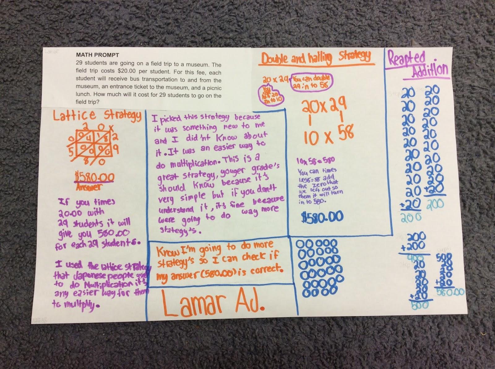 Ms Rashid: Grade-level Math Prompt