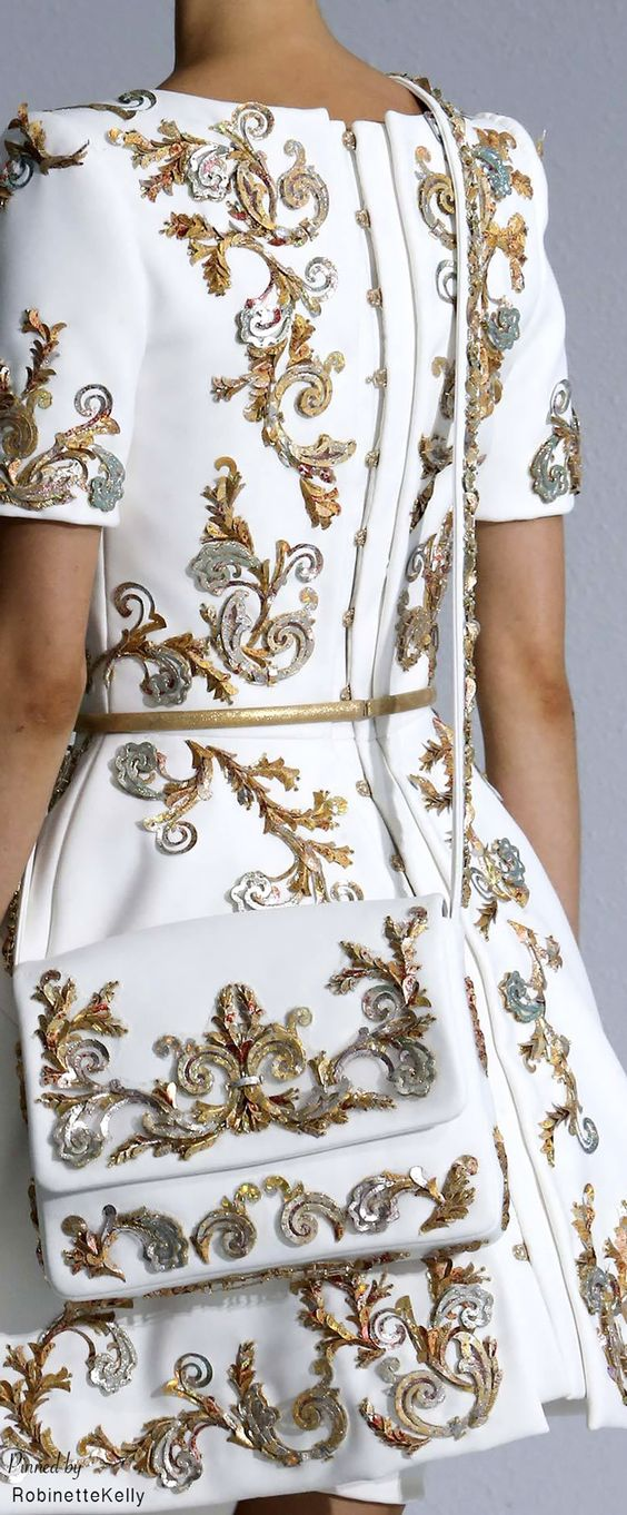 Chanel Haute Couture Gold And Silver Work