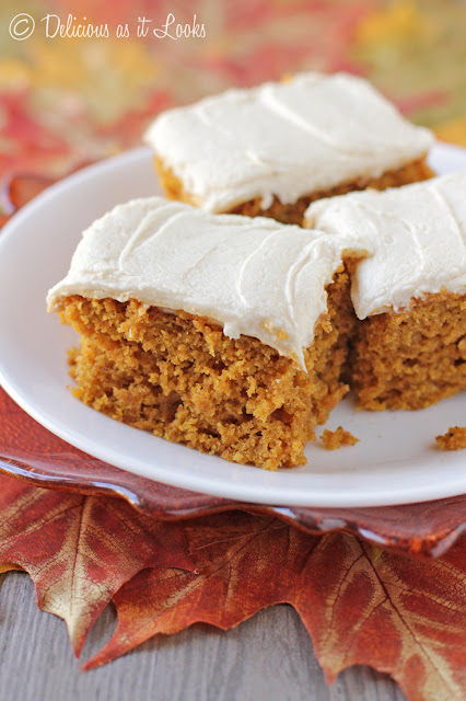 Pumpkin Spice Bars with Maple Icing