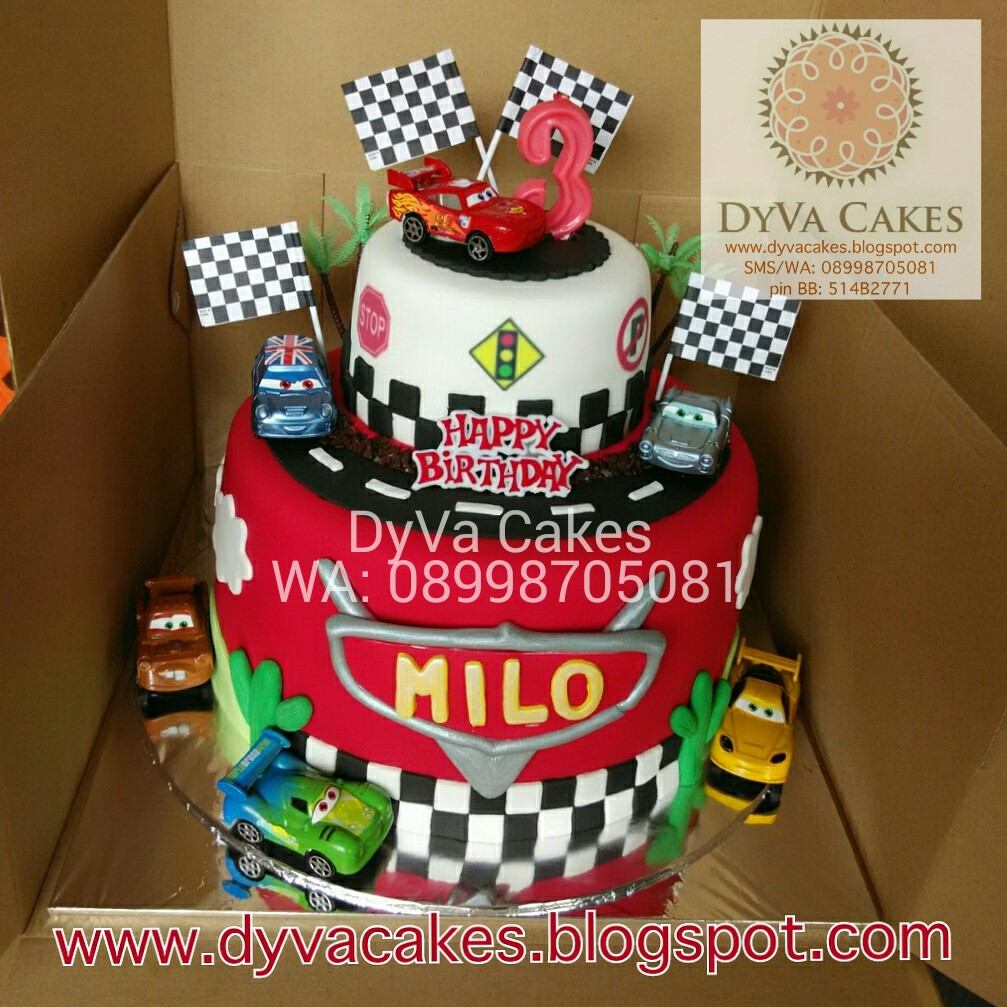 DyVa Cakes Cars Birthday Cake