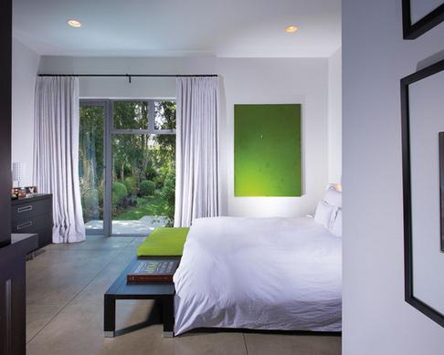 detalhes verde quarto