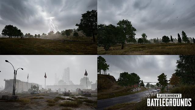 PUBG PC: Erangel sẽ có sấm sét nổi mưa và chớp giật ở bản update mới