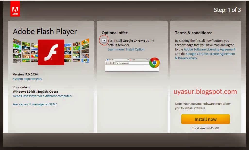 Halaman Utama Flash Player