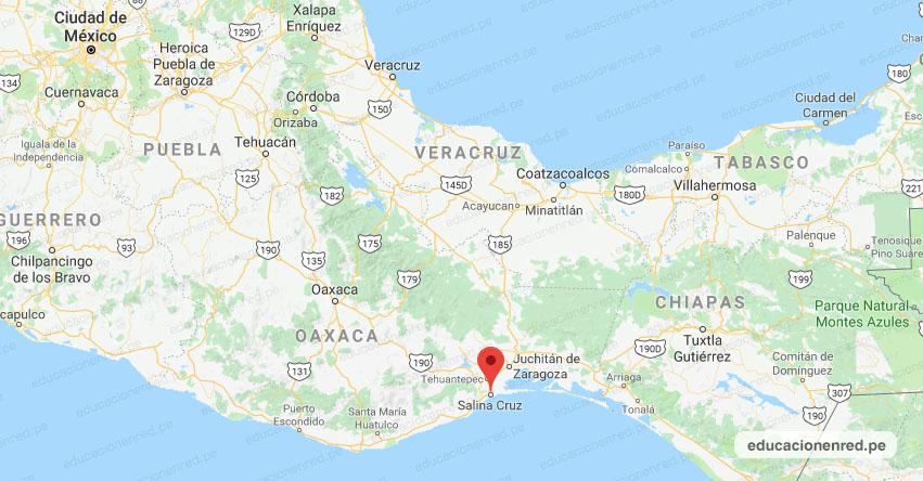 Temblor en México de Magnitud 4.6 (Hoy Jueves 21 Noviembre 2019) Sismo - Epicentro - Salina Cruz - Oaxaca - OAX. - SSN - www.ssn.unam.mx