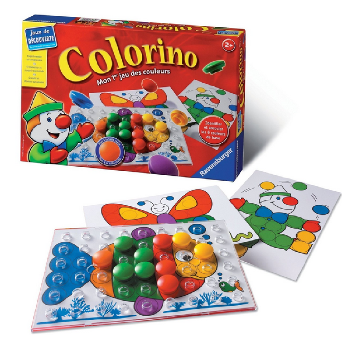 Le jeu éducatif Colorino pour enfant à partir de 2 ans.