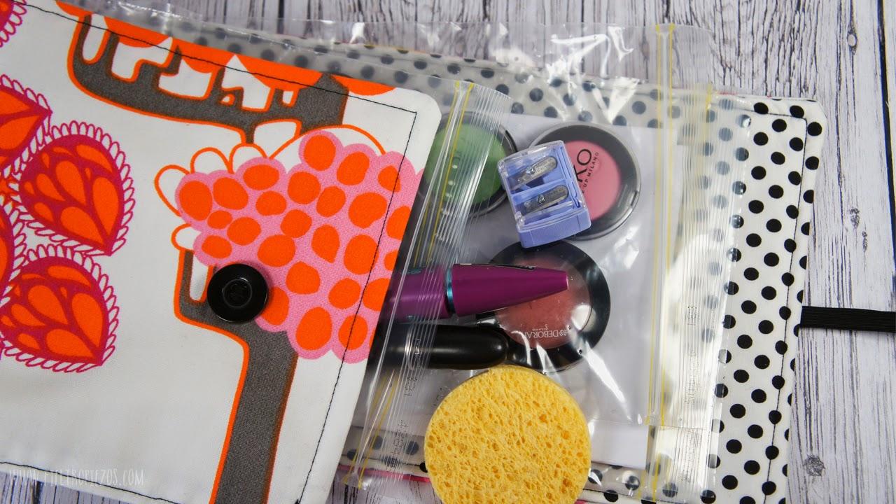 organizador de viaje con bolsas de zip