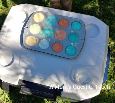 frozen chalk in muffin tin