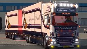 Scania R500 Tijsterman + tandem