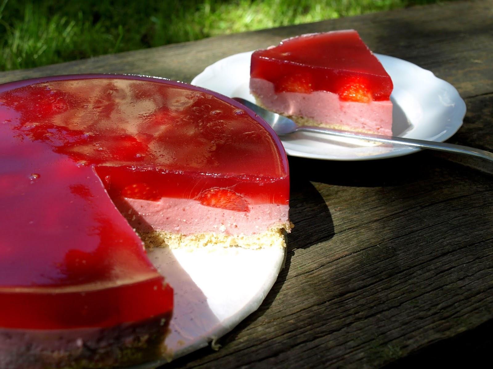 Wegańskie ciasto truskawkowe- bezglutenowe, AIP