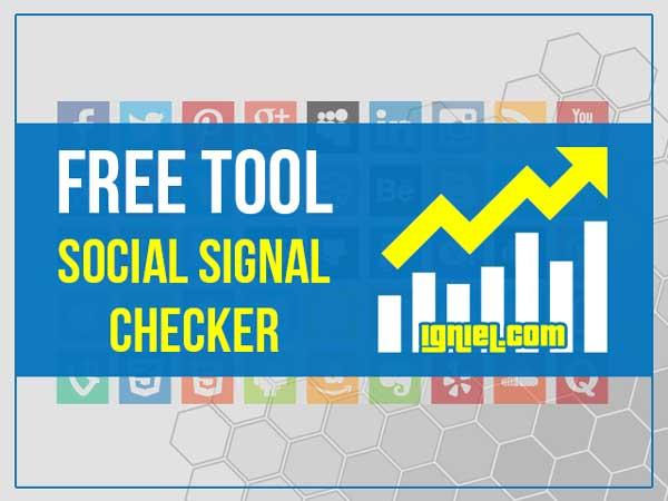 Social Signal Checker Free Tool