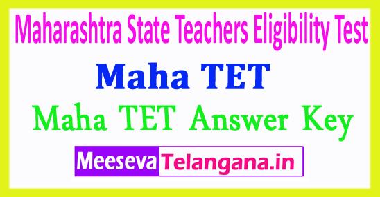 Maharashtra Teacher's Eligibility Test Maha TET Answer Key 2018 Download