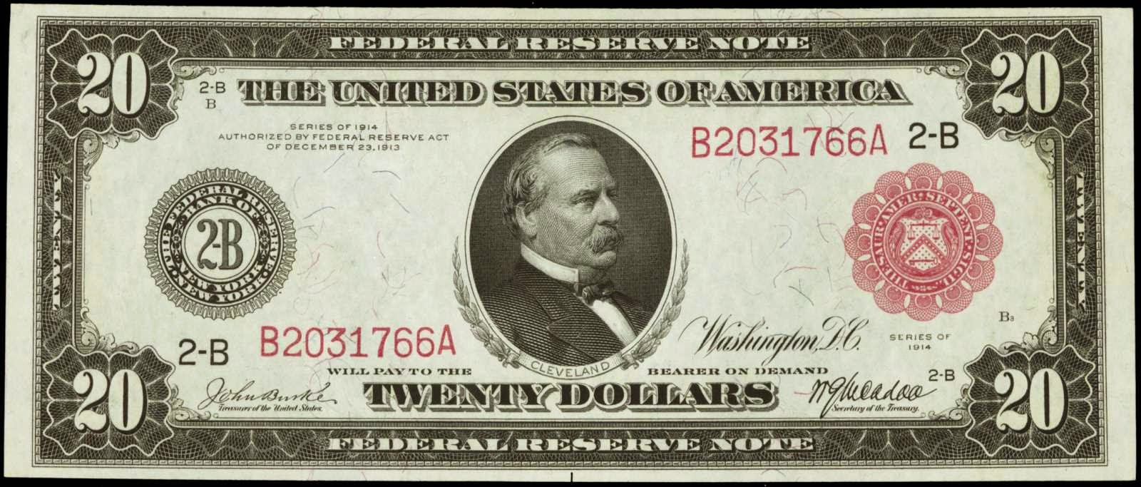 1914 Twenty Dollar Federal Reserve Note
