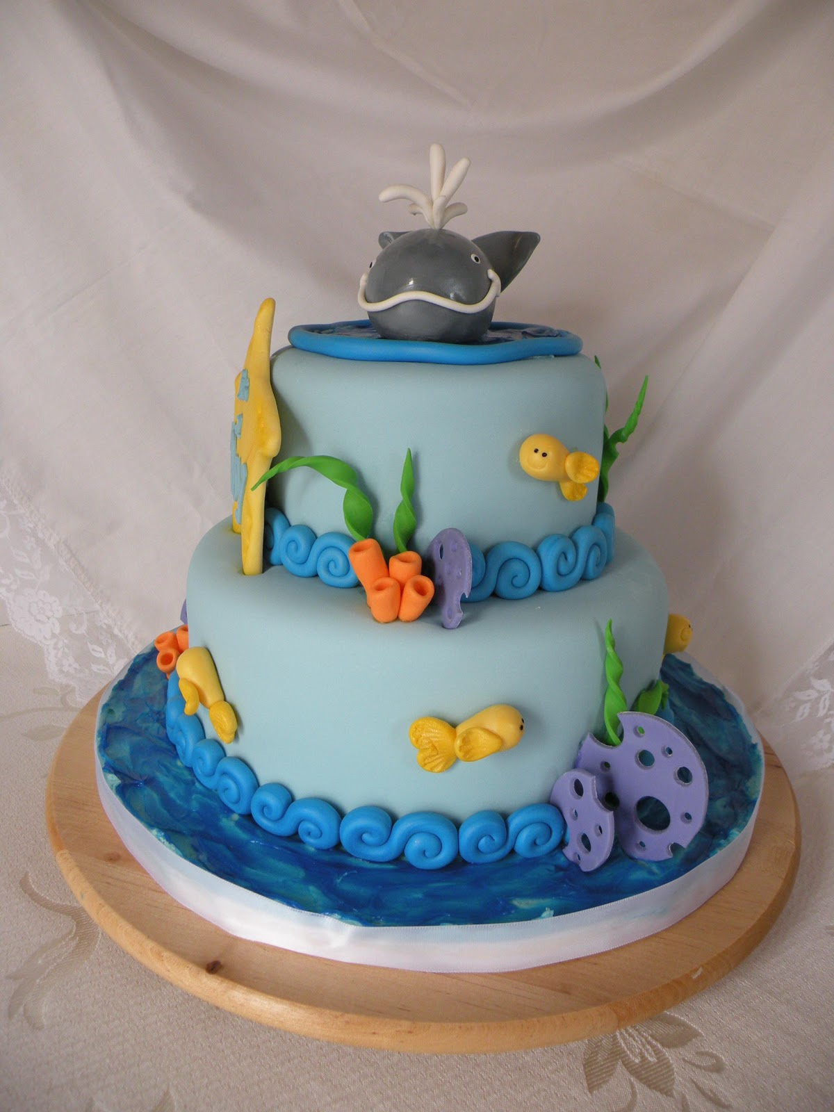 Teresa's Tasty Temptations: Whale Themed Baby Shower Cake