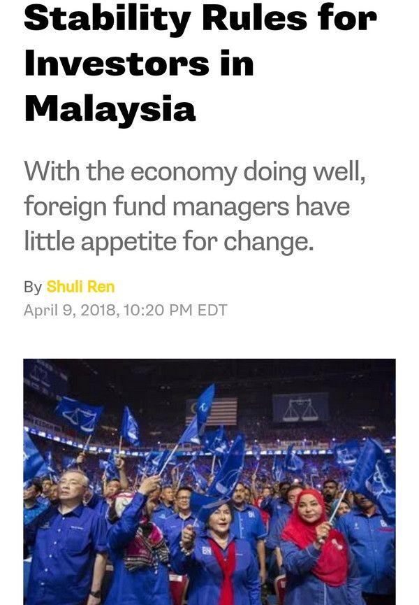 Akhbar Antarabangsa Ramal Barisan Nasional Menang