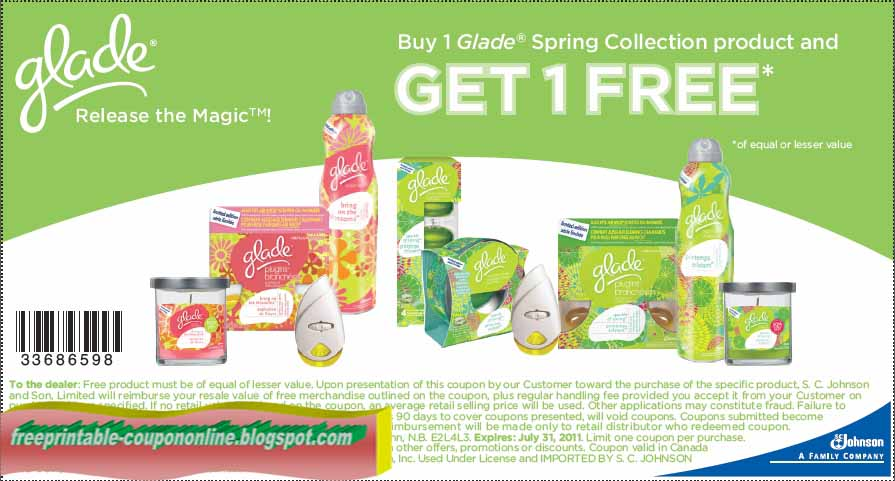 graphic about Coolsavings Printable Coupons referred to as Cost-free printable discount codes glade items : Functioning warehouse