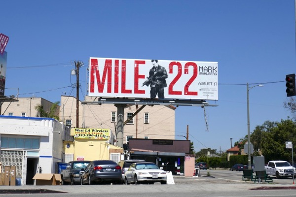 Mile 22 film billboard