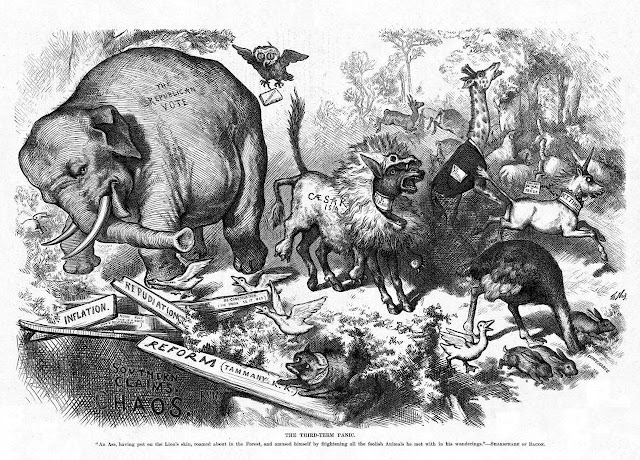 The Third-Term Panic by Thomas Nast, from Harper's Weekly (November 7, 1874)