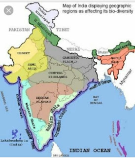 Bio-Geological map of India