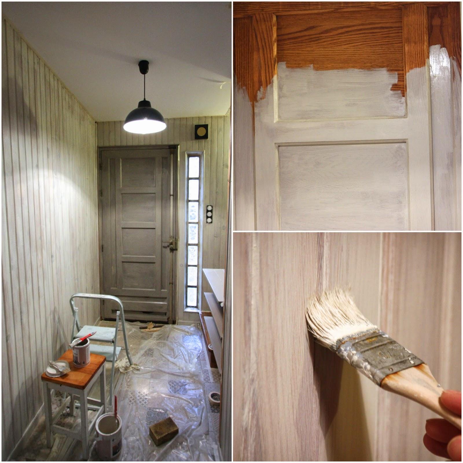 Un nouveau regard avant apr s d 39 une entr e en lambris for Peinture d une maison