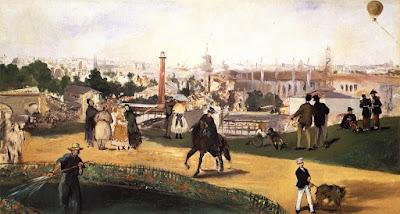 Manet - Vue de l'exposition universelle de 1867.