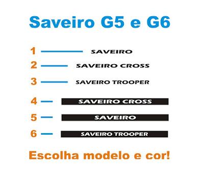 Kits Adesivos Para Saveiro G5 G6 Lançamento 2016 2017
