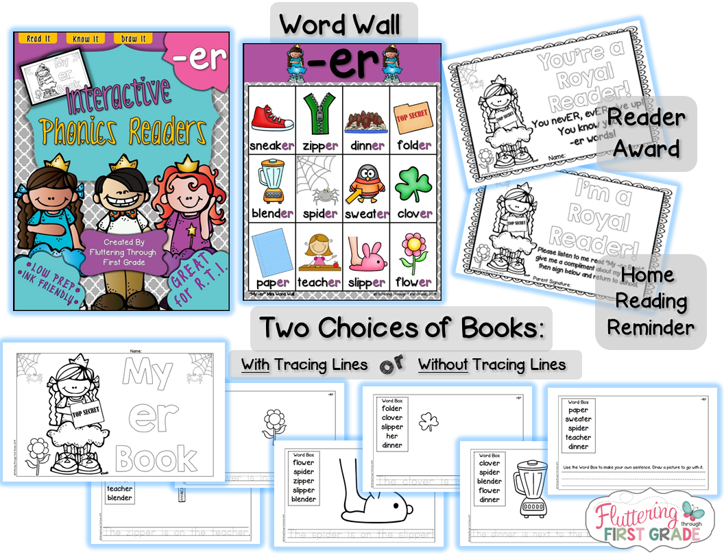 Interactive Phonics Readers R Controlled Vowels A Book Bag Freebie