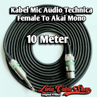 Kabel Mic Audio Technica Female To Akai Mono